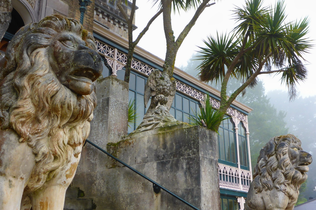 Lion Statues at Larnach Castle